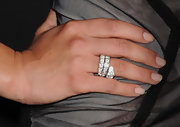 Jessica paired her sheer dress with a cool wraparound diamond ring.