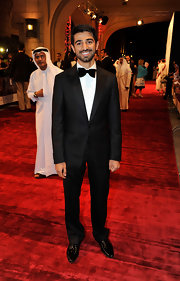 Abdulla looked sharp in a tailored tuxedo and bowtie.