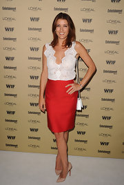 'Private Practice' star Kate Walsh attended the 2010 Entertainment Weekly and Women in Film Pre-Emmy Party wearing an 18-karat white gold Spike bracelet.