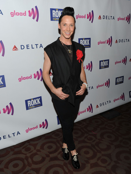 More Pics of Johnny Weir Classic Bun (1 of 11) - Johnny Weir Lookbook - StyleBistro