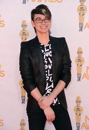 Christian Siriano paired his sharp blazer with a Louis Vuitton shirt.