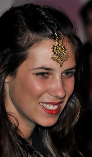 Tatiana Santo Domingo's headdress was a different and daring choice.