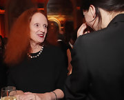 Grace Coddington used red lipstick to highlight her smile at the 2010 NYC & Company Foundation Leadership Awards Gala.