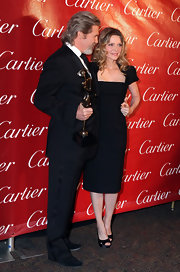 Michelle Pfeiffer went for simple elegance at the 2010 Palm Springs International Film Festival Gala with this LBD paired with black platform peep-toes.