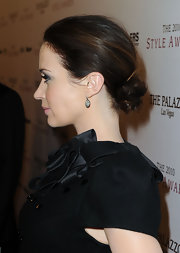 Emily Blunt always looks so elegant. The actress paired her sleek look with a textured chignon.