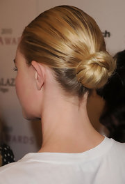 Kate Bosworth rocked a sleek bun at the 2010 Style Awards.