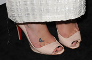 Lea showed off a cute butterfly tattoo at the 2010 Style Awards.