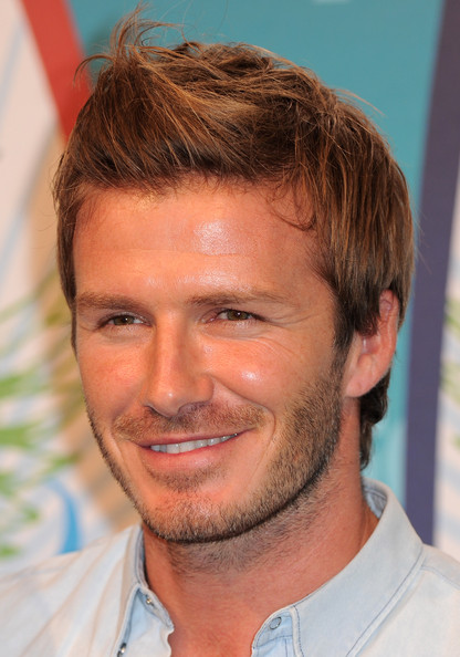 More Pics of David Beckham Spiked Hair (5 of 29) - David Beckham Lookbook - StyleBistro
