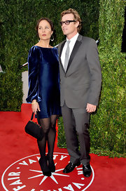 Rebecca Rigg's sapphire blue velvet dress was a plush look for the red carpet.