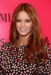 With lots of shine and volume, Behati Prinsloo's center-parted 'do looked totally fab.