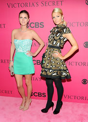Paris Hilton attended the 2010 Victoria's Secret Fashion Show wearing a sterling silver pave snake ring.