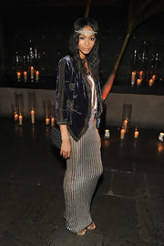 Chanel Iman looked bohemian-chic at the 2010 Whitney gala in a jeweled headband and smoky eyes.