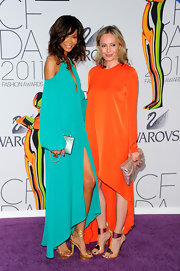 Lubov was a vibrant beaut at the CFDA Awards in an orange iridescent fishtail gown.