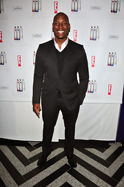 Tyrese showed off his charcoal suit at the Ciroc New Year's Eve party.
