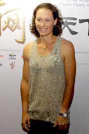 Tennis star Samantha Stosur wore her hair in medium length curls for red carpet arrivals at the China Open.