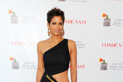 Halle Berry Brings Sexy Back in a Halston Cutout Dress