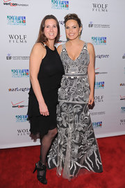Mariska looked glamorous at the Joyful Heart Gala in a heavily embroidered evening gown.
