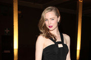 Melissa George Is Elegant in a Black Evening Dress