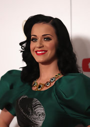 Katy Perry showed off her radiant red pout at the Logie Awards which beautifully contrasted her raven locks.