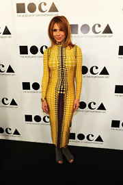 Rosanna Arquette got artistic at the MOCA Gala in a bright print dress.