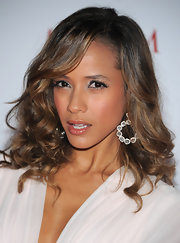 Dania Ramirez wore hoop earrings in crystal and silver to the 2011 'Maxim' Hot 100 Party.