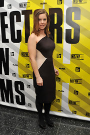 Ashley Williams donned a colorblock dress at the New Directors/New Films Festival.