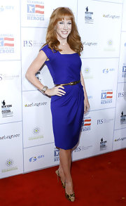 Kathy Griffin was bold in royal blue at the Stand Up For Heroes event in NYC.