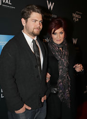 Sharon Osbourne wrapped a tie-dye scarf around her neck at the 2011 Tribeca Film Fest kick-off party.