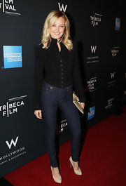 Malin Akerman sizzled at the Tribeca Film Festival in pointy nude platform pumps.