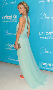 Divine in seafoam green, Brooklyn Decker added a touch of shine with a gold box clutch at the Unicef Ball.