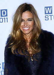 Kelly Bensimon wore her tresses in long, tousled waves at the 2011 Wire Store opening night party.