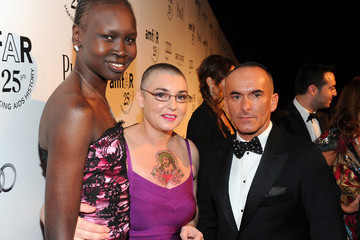 Alek Wek Paolo Diacci The 2011 amfAR Inspiration Gala Los Angeles - Red Carpet
