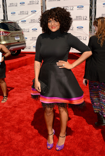 Marsha Ambrosius in a layered circle skirt