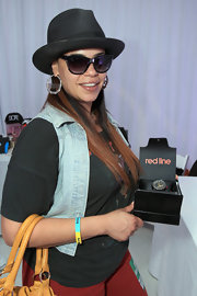 Faith Evans was one cool cat in this classic black fedora.