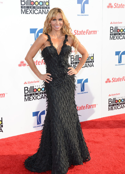 More Pics of Aylin Mujica Evening Dress (2 of 3) - Aylin Mujica Lookbook - StyleBistro [red carpet,carpet,clothing,dress,hairstyle,shoulder,premiere,long hair,flooring,gown,arrivals,aylin mujica,billboard mexican music awards,california,los angeles,the shrine auditorium,state farm]