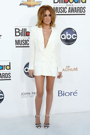 Miley Cyrus looked fierce at the Billboard Music Awards in this double-breasted blazer dress.