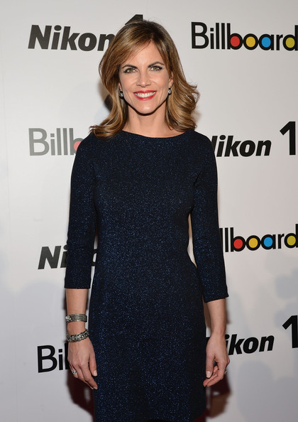 More Pics of Natalie Morales Medium Curls with Bangs (4 of 8) - Shoulder Length Hairstyles Lookbook - StyleBistro