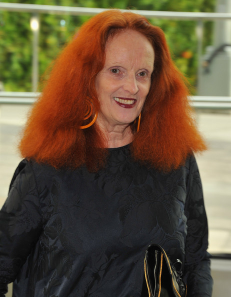 More Pics of Grace Coddington Geommetric Earrings (1 of 3) - Dangle Earrings Lookbook - StyleBistro [hair,red hair,hair coloring,long hair,hairstyle,orange,lip,brown hair,smile,fur,cfda fashion awards,cocktails,vogue,american,new york city,alice tully hall,director,grace coddington]