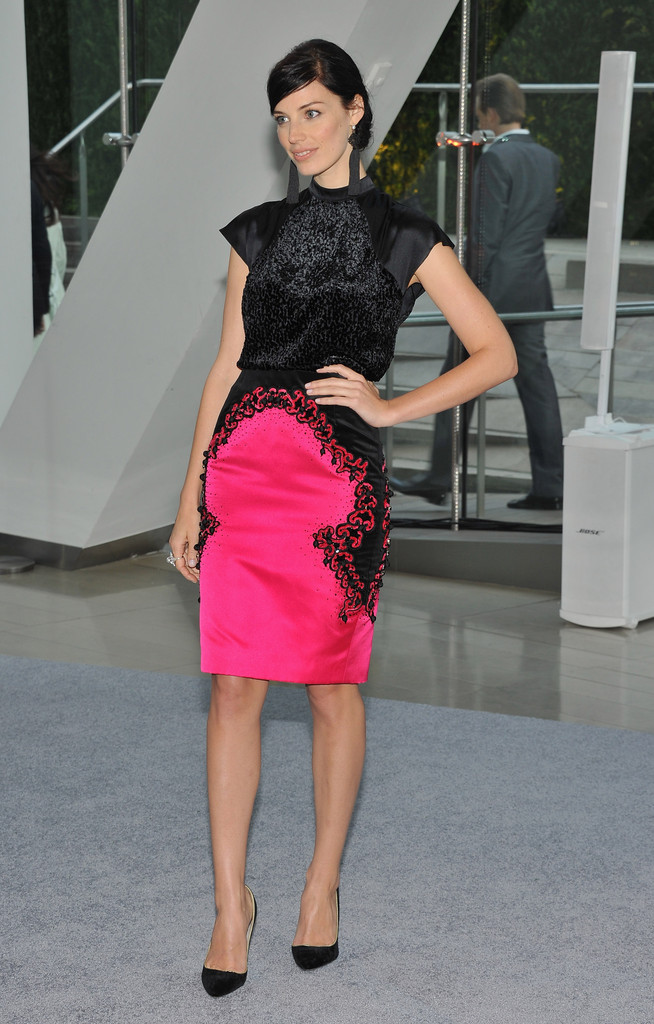 Actress Jessica Pare attends the 2012 CFDA Fashion Awards at Alice Tully Hall on June 4, 2012 in New York City.