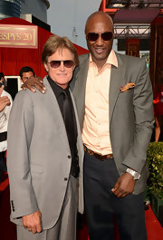 Lamar Odom looked classic at the 2012 Espy Awards in a gray suit jacket layered over a pink button-down shirt.