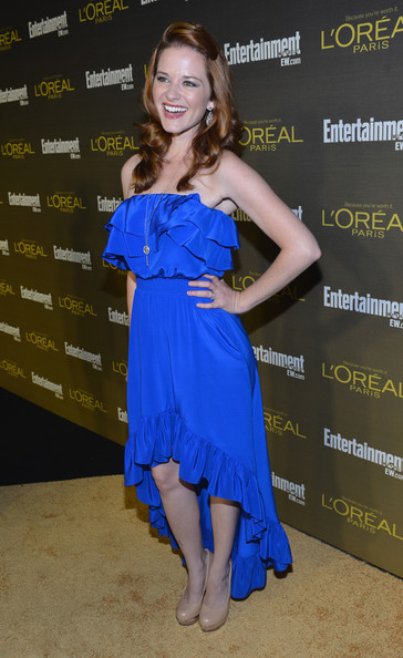 More Pics of Sarah Drew Half Up Half Down (1 of 3) - Sarah Drew Lookbook - StyleBistro