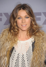 Natalie Zea wore her hair in long spiral curls at the 2012 FX Ad Sales Upfront event.