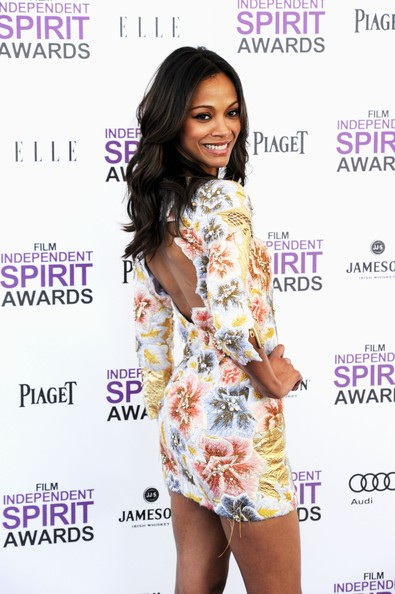More Pics of Zoe Saldana Cocktail Dress (16 of 29) - Zoe Saldana Lookbook - StyleBistro