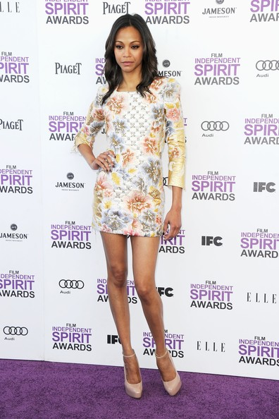 More Pics of Zoe Saldana Cocktail Dress (4 of 29) - Zoe Saldana Lookbook - StyleBistro