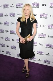 Anne Heche wore this crisp taffeta cocktail dress to the Independent Spirit Awards.