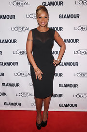 Mary J. Blige was a class act in this LBD with a subtle peplum at the Glamour Women of the Year Awards.