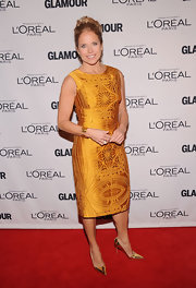 Katie simply wowed us in this marigold embroidered number at the Glamour Women of the Year Awards.