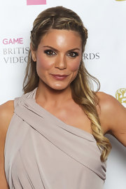 Charlotte Jackson paired the perfect romantic hairstyle with her gorgeous Grecian goddess gown at the 2012 British Academy Video Games Awards.
