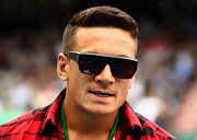 Sonny Bill Williams amped up the cool factor with a pair of designer shield sunglasses at the 2012 Heineken Open.