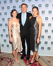 Becca Shumlin wore a champagne silk dress to the Human Rights Campaign Gala.